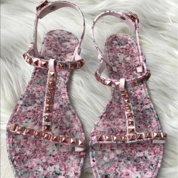 07069aba90082 Rebecca Minkoff Pink Rose Gold Jelly Sandal
